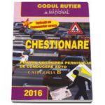 Chestionare pentru obtinerea permisului de conducere auto Categoria B 2016