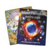 Set Atlasul lumii pentru copii si Atlasul universului pentru copii