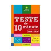 Teste de 10 minute clasa a III a