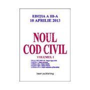 Noul cod civil volumul 1