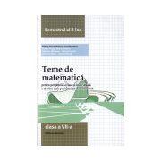 Teme de matematica, clasa a VII-a, semestrul al II-lea