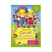 Caiet de lecturi recomandate clasa I