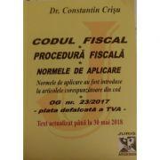 Codul fiscal, codul de procedura fiscala si normele de aplicare