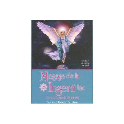 Mesaje de la îngerii tăi. Cărţi oracol (Ediţie nouă!) (Set de 44 de carti oracol si un ghid)