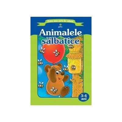 Prima mea carte de colorat - Animalele salbatice
