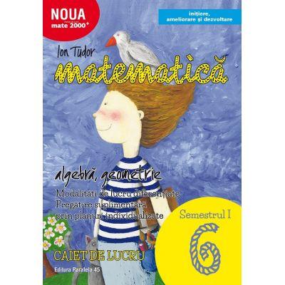 Matematică. Algebră, geometrie. Caiet de lucru. Clasa a VI-a. Semestrul I. Inițiere