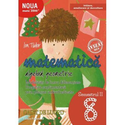 Matematică. Algebră, geometrie. Caiet de lucru. Clasa a VIII-a. Semestrul II. Inițiere