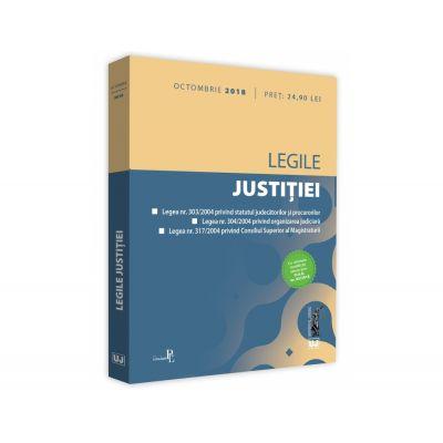 Legile justitiei: octombrie 2018. Editie tiparita pe hartie alba