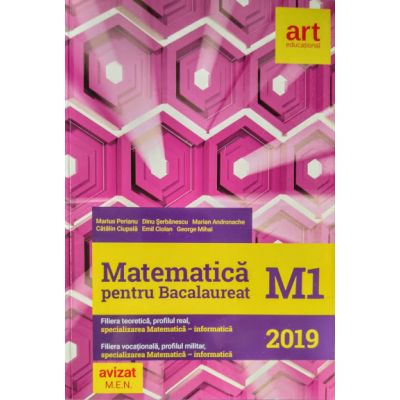 Matematica M1 pentru examenul de Bacalaureat 2019 - (Filiera teoretica, profilul real, specializarea mate-info. Filierea vocationala, profilul militar, mate-info)