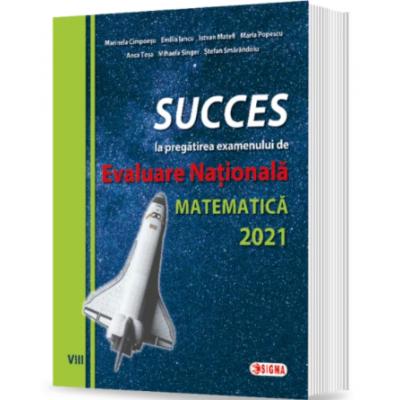 SUCCES la pregătirea examenului de EVALUARE NAŢIONALĂ la Matematică 2021