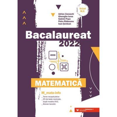 Bacalaureat 2022. Matematică M_Mate-Info
